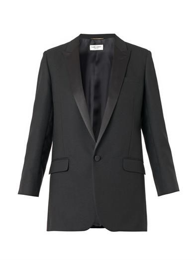 Saint Laurent Iconic wool smoking jacket