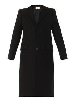 Single-breasted Chesterfield coat