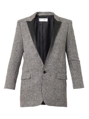 Single-breasted tweed jacket
