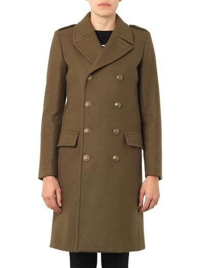 Saint Laurent Military double-breasted wool coat