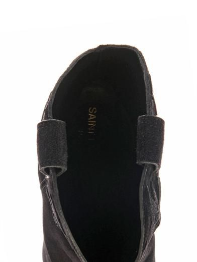 Saint Laurent Paris Western suede ankle boots