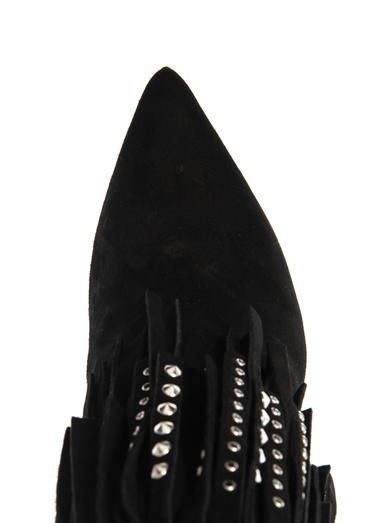 Saint Laurent Paris fringed suede ankle boots