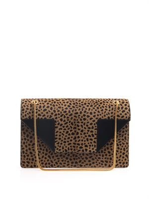 Betty calf-hair shoulder bag