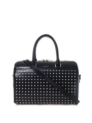 6 Hour studded leather duffle bag