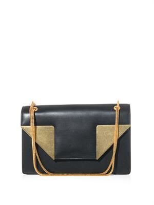 Betty metal and leather shoulder bag