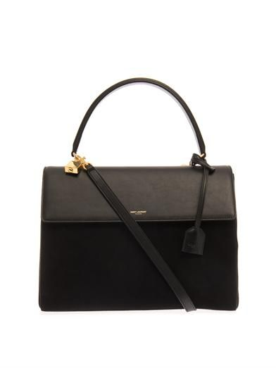Saint Laurent Moujik suede and leather tote