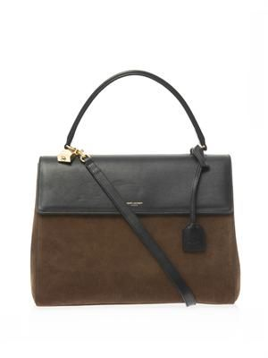 Moujik suede and leather tote
