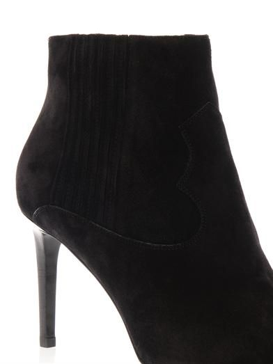 Saint Laurent Paris western suede ankle boots