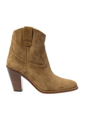 New Western suede ankle boots
