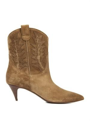 Cat Western suede ankle boots