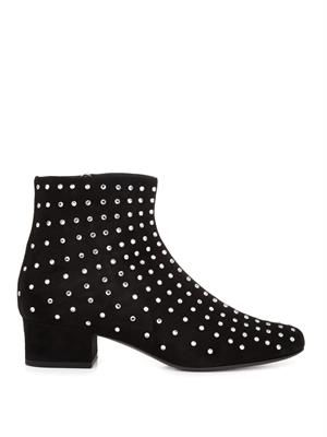 Babies crystal-embellished suede boots