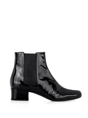 Babies patent leather chelsea boots