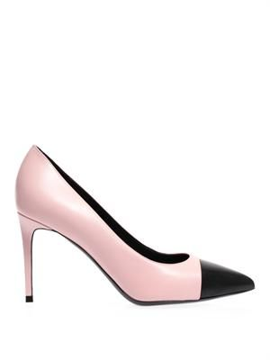 Paris capped-toe leather pumps