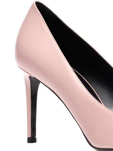 Saint Laurent Paris capped-toe leather pumps