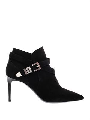 Paris point-toe suede ankle boots