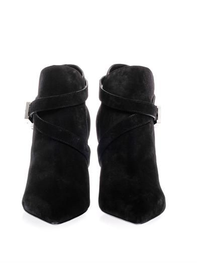 Saint Laurent Paris point-toe suede ankle boots