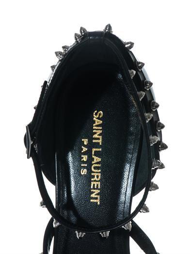 Saint Laurent Spiked leather pumps