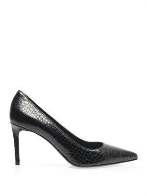 Paris textured leather pumps