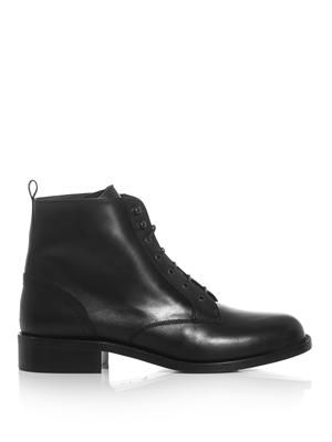 Patti lace-up leather boots