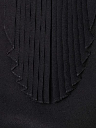 Saint Laurent Pleated bib front blouse