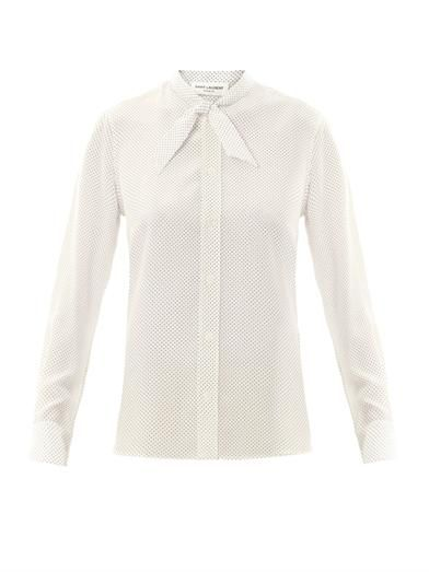 Saint Laurent Polka-dot silk blouse