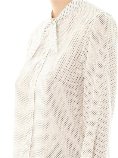 Saint Laurent Polka-dot silk blouse