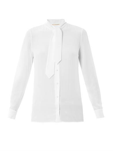 Saint Laurent Lavaliere neck-tie blouse