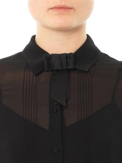 Saint Laurent Satin bow badge