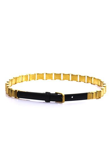 Saint Laurent Chain link skinny belt