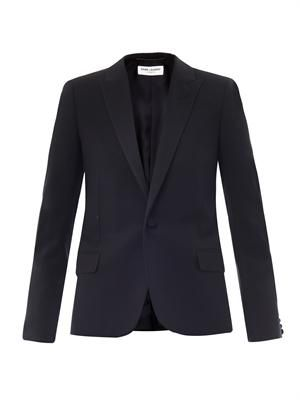 Gabardine smoking jacket