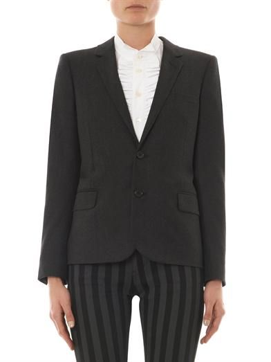 Saint Laurent Notch-lapel flannel blazer