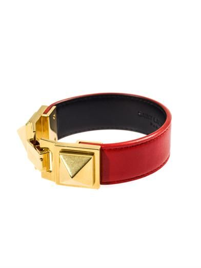 Saint Laurent Double stud leather bracelet