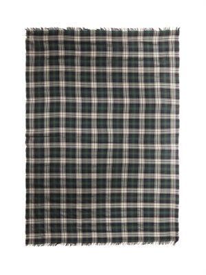 Tartan fine-knit scarf