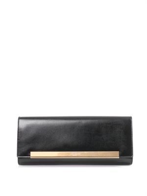 Lutetia grained-leather clutch