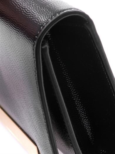 Saint Laurent Lutetia grained-leather clutch