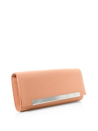 Saint Laurent Lutetia leather clutch