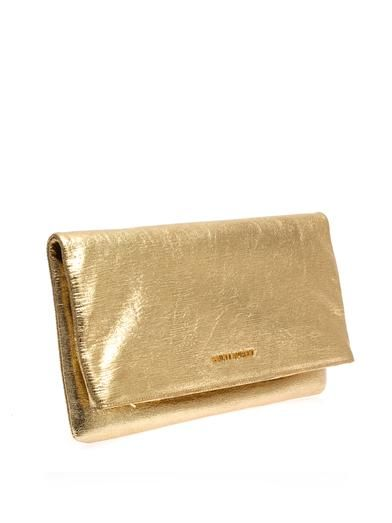 Saint Laurent Letters leather clutch