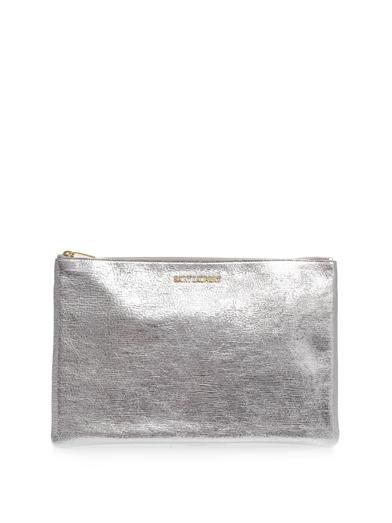 Saint Laurent Letters leather pouch clutch