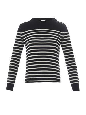 Breton stripe cotton-knit sweater