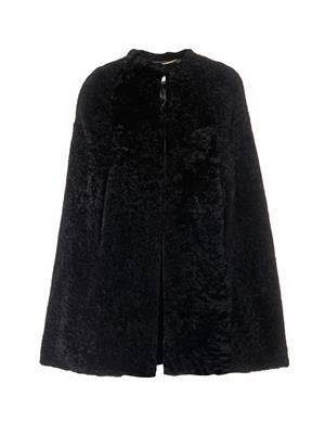 Shearling cape