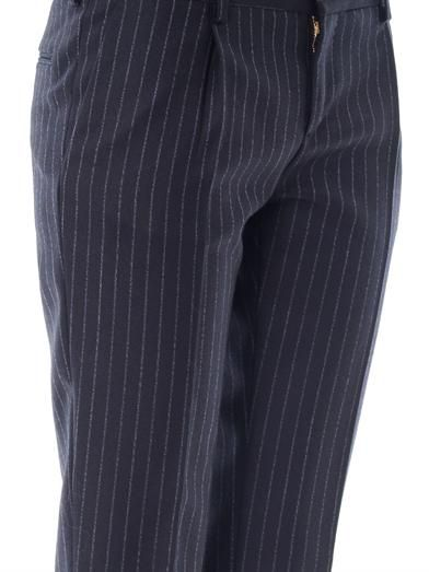 Saint Laurent Pinstripe tailored wool trousers