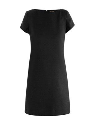 Simple wool shift dress