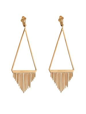 Gourmette fringed earrings