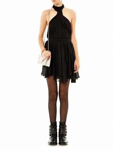 Saint Laurent Silk halterneck dress