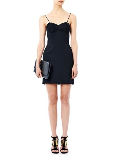 Saint Laurent Sable cady mini dress