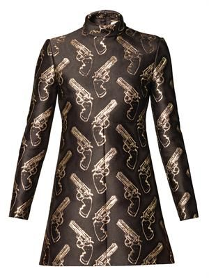 Gun Pop jacquard shift dress