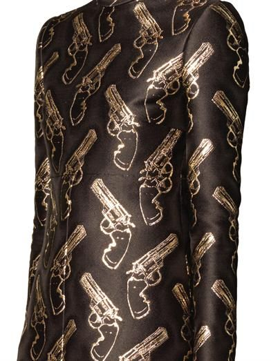 Saint Laurent Gun Pop jacquard shift dress