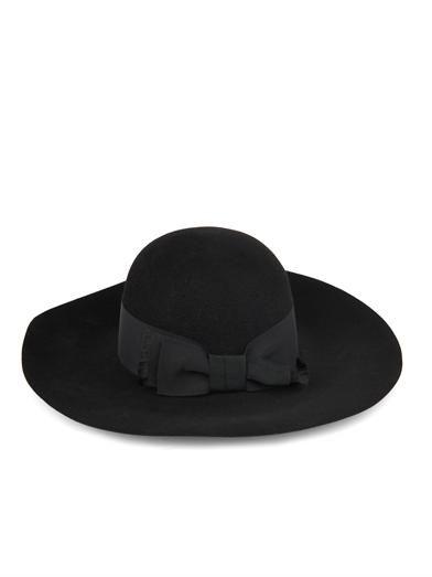 Saint Laurent Wide-brimmed fur-felt hat