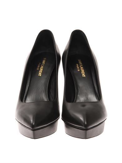Saint Laurent Janice platform leather pumps