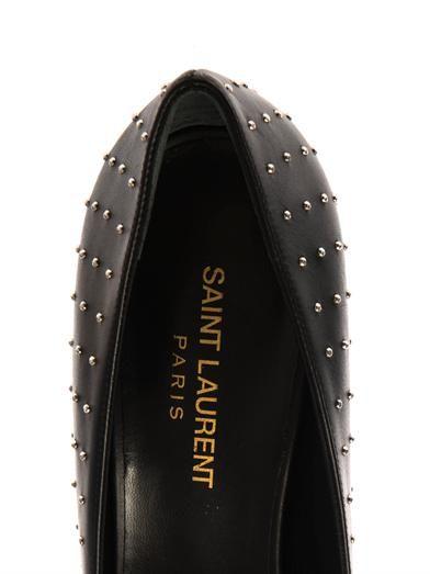 Saint Laurent Paris studded leather pumps